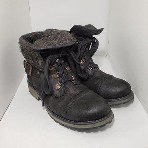 Roxy Thompson black combat boot size 7.5